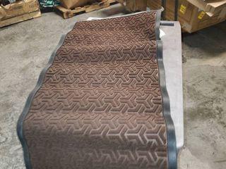 DEXI Doormat Indoor large Front Door Mat Entrance Outdoor Heavy Duty Rubber Outside Floor Rug Waterproof low Profile 2 x4 Brown