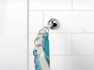 50  to 72  NeverRust Rustproof Adjustable Tension Curved Shower Rod Chrome   Zenna Home