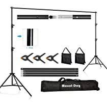 Heavy Duty Background Stand  2x2M Backdrop Support System Kit with Carry Bag for Photography Photo Video Studio Photography Studio