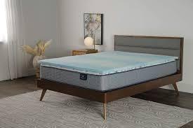 Serta Comfort Cool 1 5 in Gel Memory Foam Mattress Topper  Queen
