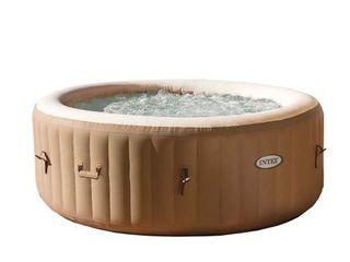 Intex 4 Person PureSpa Bubble Massage Inflatable Hot Tub Spa
