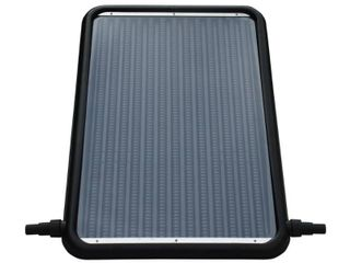 FlowXtreme 21 in Solar Flat Panel Heater for Above Ground Swimming Pools with Standard 1 25   1 5 in Connectors