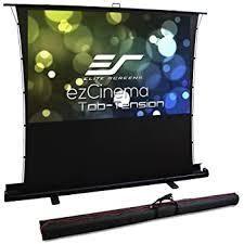Elite Screens ezCinema 2  Manual Floor Pull Up Projector Screen