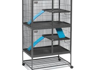 Midwest Critter Nation Animal Habitat with Stand  Double Unit  36 Inches by 24 Inches by 63 Inches