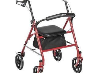 Rollators4 Wheel Steel Product Description  Rollator Steel 4 Wheel Red 1 ea