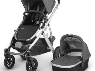 Infant Uppababy 2018 Vista Aluminum Frame Convertible Complete Stroller With leather Trim  Size One Size   Grey