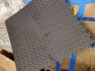 innhom Gym Mat Puzzle Exercise Mats Gym Flooring Mat Interlocking Foam Mats with EVA Foam Floor Tiles for Gym Equipment Workouts  Black