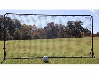 Trigon Sports Soccer Rebounder Training Net  6 x 12 Feet  Black
