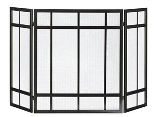 Pleasant Hearth 3 Panel Mission Style Fireplace Screen