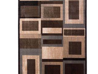 Home Dynamix Bazaar Gal 1196 Black Brown 8 ft  x 10 ft  Indoor Area Rug  Black Brown