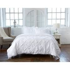 Analia Collection 100  Microfiber Duvet Cover with Textured Pintuck Pattern QUEEN