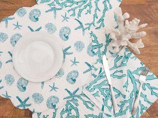 Cora Blue Napkin Set of 6   20 x 20