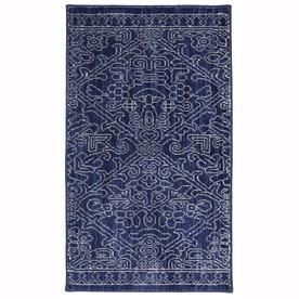 Mohawk Home Rectangular Blue Transitional Woven Throw Rug  Common  2 ft x 3 ft  Actual  25 in x 44 in