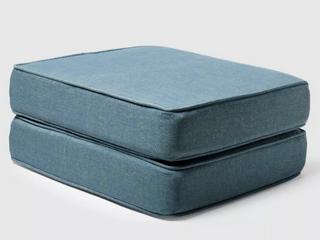 Deep Sea Ottoman Cushion   2 pack