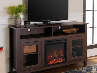 Fireplace TV Stand   Espresso