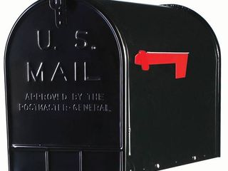 Extra large Steel Post Mount Mailbox