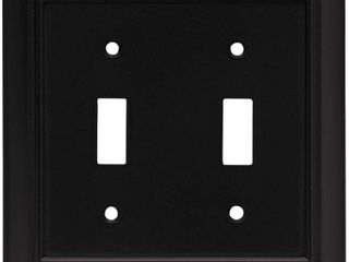 Brainerd Architectural 2 Gang Toggle Switch Wall Plate