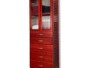 5 Drawer Storage Tower Red Mahogany