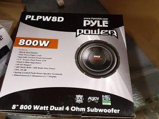 Pyle PlPW8D 8 Inch 800 Watt Dual 4 Ohm Subwoofer