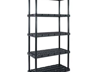 Gracious living Knect A Shelf 72 in  H x 36 in  W x 18 in  D Resin Shelving Unit