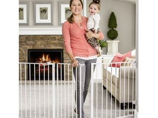 Regalo Open Area Baby Gate  up to 76  with Walk Through Door