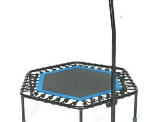 Sportplus Fitness Trampoline  126 Cm  Quiet And Joint gentle Bungee Ropes  Up   Missing balance bar