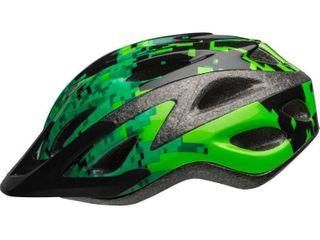 Bell Peak Green Pixels Boys Youth Bike Helmet  Black