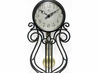 Pendulum 20 inch Wall Clock Wrought Iron Antique Style