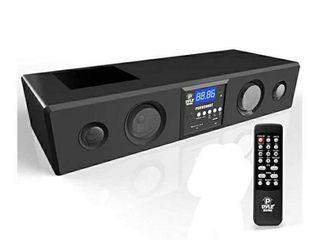 PYlE 300 Watt Bluetooth Soundbar with USB SD FM Radio 3 5MMS input and Wireless Remote