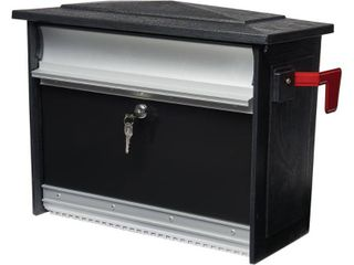 Gibraltar Mailboxes Mailsafe Wall Mount Mailbox Black