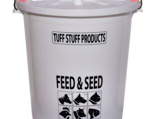 Tuff Stuff Products FS7 7 Gallon Feed and Seed Storage Pail with locking lid