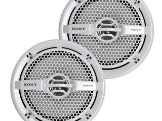 2  Sony XS MP1611 6 5  140W Marine Speakers White   XM604M 600W 3 4 Ch Amplifier