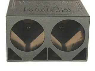 Q Power QBOMB12TB Dual 12 Inch Triangle Ported Subwoofer Box Enclosure