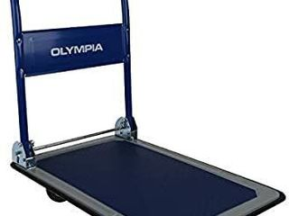 Olympia Tools   350lB Capacity Platform Hand Truck  Charcoal Blue