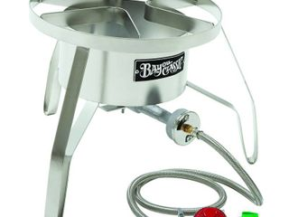 Bayou Classic SS10 Stainless Steel High Pressure Cooker with Windscreen  Burner only