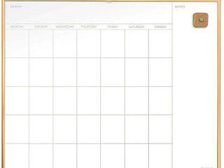 U Brands Magnetic Dry Erase Calendar Whiteboard  20  x 16  Gold Aluminum Frame  RETAIl  27 49