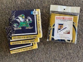 RESEllER lOT  3 Packages Notre Dame Napkins   Kent State Flag