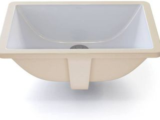 DECOlAV Callensia Classically Redefined Rectangular Vitreous China Undermount lavatory Sink with Overflow  White  RETAIl  77 98