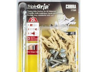 6 PACKS Cobra Triple Grip 170R  6 Anchor with Screws  RETAIl  44 16