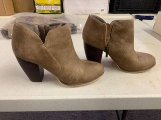 Michael Antonio leather Booties  Size 8W  Worn Once