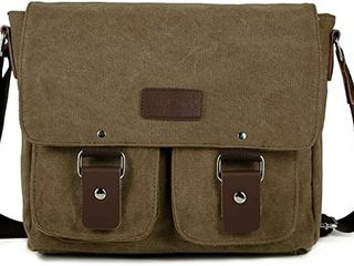 Canvas   leather Messenger Bag   New With Tags  NWT