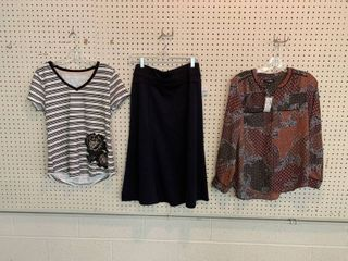 3  NWT XS Pieces   1 Skirt  1 Shirt  1 Blouse  Combined MSRP  104 99