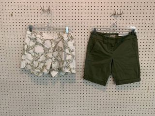 2  NWT Size 0 Shorts  Combined MSRP  89 99