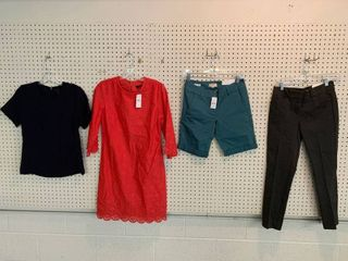 4  NWT Size 0 Pieces   1 Blouse  1 Dress  1 Pair Ankle Pants  1 Pair Shorts  Combined MSRP  179 99