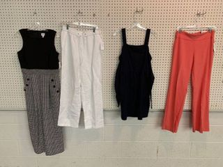 4  NWT Size 6 Pieces   1 Jumpsuit  1 Dress  2 Pairs Pants  Combined MSRP  224 99