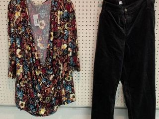2  NWT Size 26 28 Pieces   1 Blouse  1 Pair Pants  Combined MSRP  94 99