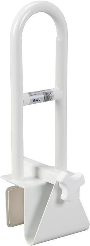 Drive Medical Steel Clamp on Tub Rail  White  RETAIl  27 53