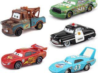 Disney Pixar Cars 2 Diecast Vehicle Set  5 Cars   Stickers   RETAIl  29 99