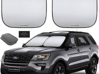 Autoamerics Windshield Sun Shade 2 Piece Foldable Car Front Window Sun Blocker   Keep Your Vehicle Cool  RETAIl  27 99