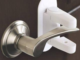 lOT OF 8 Tuut Door lever lock   Child Proof Doors   Handles   3M Adhesive  RETAIl  59 96